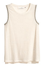 Top senza maniche - Bianco naturale - DONNA | H&M IT 2